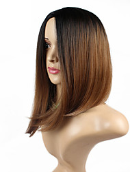 Top Quality Wigs Two-Tone Color 1b/27 Synthetic Straight Wig ,Wholesale Ombre Color BoBo Wigs .