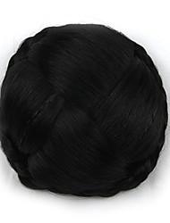 Kinky кудрявый черный европы невесты человеческих волос монолитным парики шиньоны g660232-л 2
