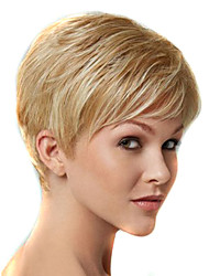 Women Short Kinky Straight Synthetic Hair Wig Blonde Heat Resistant Fiber Cheap Cosplay Party Wig Hair
