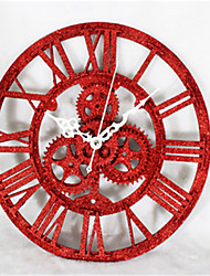 Retro Modern Blend Of European Wall Clock Gear