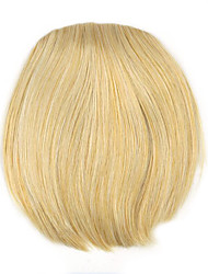 Kinky Curly Gold Straight Human Hair Weaves Chignons 1003
