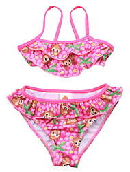 New Fashion Cute Girls Summer Monkey Print 2pcs/set Bikini/ Swimming Suit  Beach Tankinis (Top+Underwear)for 2~7Y