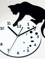 Climb To The Top Of The Cat Wall Clock