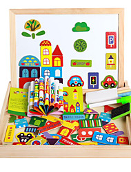 The New Magnetic Dpell Dpell Joy, Vhildren's Eooden Jigsaw Puzzle, Baby Educational Learning Toys-The Happy Farm