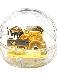 Acrylic Gold Creative Romantic Music Box for Gift