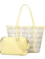 Women PU Casual Shoulder Bag / Bag Sets Blue / Yellow / Orange