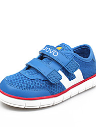 Boy's Spring / Summer / Fall Comfort / Round Toe / Closed Toe PU / Tulle Casual Flat Heel Magic Tape Blue