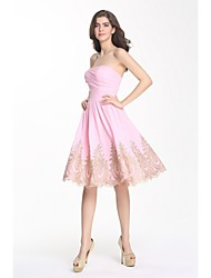 Cocktail Party Dress A-line Sweetheart Knee-length Chiffon