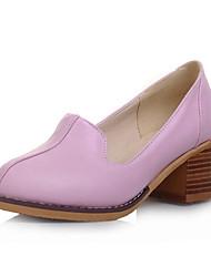 Women's Shoes Leatherette Chunky Heel Heels Heels Wedding / Party & Evening / Dress / Casual Black / Pink / Purple
