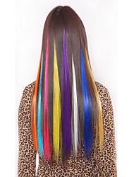synthetische clipe colorido em extensões do cabelo 1 grampos 5color