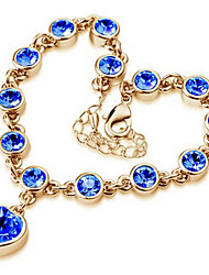 Bracelet Chain Bracelet / Charm Bracelet Alloy Wedding / Party / Daily / Casual Jewelry Gift Gold / Silver / White / Blue / Pink,1pc