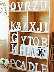 Wedding Décor 26 Freestanding Wood Wooden Simple Letters White Alphabet  Party Home Decorations