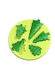 Fonddant pastel decoración herramientas árbol de navidad silicona molde para cupcake dulces chocolate jabón arcilla fimo resina color aleatorio