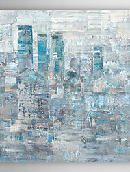 Hand Painted Oil Painting Abstract Faded City with Stretched Frame 7 Wall Arts®