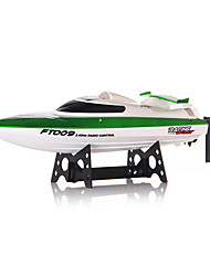 FeiLun FT009 2.4G 4CH High Speed Racing Flipped RC Boat Electric Remote Control Speedboat Water Cooling Motor System 35KMH - Green