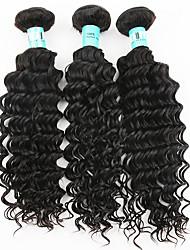 "3Pcs/Lot 8""-26"" 5A Indian Deep Wave Hair Virgin Human Hair Weave Bundles"