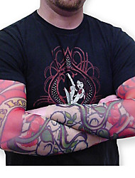 Tattoo Arm Warmers Sleeves 2015 New Arrival Cycling Cuff Arm warmers Sun Breathability Elastic Bicycle(1 pcs)