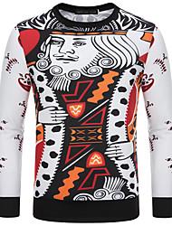Sets Activewear Pour des hommes Manches longues Décontracté / Grandes Tailles A Motifs Coton / Polyester