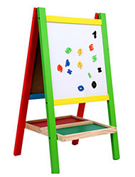 Double Seal Wooden Magnetic Drawing Board, Vertical Easel Toys, Children's Educational Toys