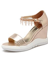Women's Shoes Heel Wedges / Heels / Peep Toe / Platform Sandals Outdoor / Dress / Casual Black / Silver / Gold/S-2