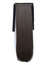 comprimento 60 centímetros marrom tipo de ligação sintética reta longa peruca de cabelo de rabo de cavalo (cor 8)