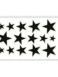Art und Weise temporäre Tattoos Pentagramm sexy Body-Art wasserdicht Tattoo-Aufkleber 5pcs (Größe: 2,36 '' von 4,13 '')