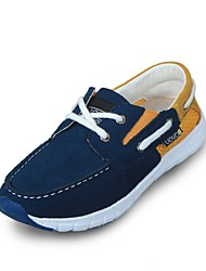 UOVO Baby Shoes Casual Leather / Tulle Loafers / Boat Shoes Navy