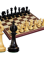 Chess, Chess Piece Large Pure Wood Boxwood Ebony Chess Set Of Pieces + 808