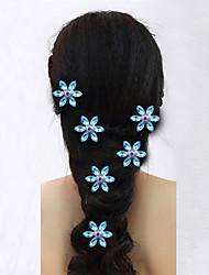 prato quente flor de cabelo noiva braçadeira em forma de u 10pcs de diamante incrustado de diamantes de cabelo cabelo fecho