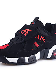 Men's Shoes Casual Fleece Fashion Sneakers Black and Red / Black and White