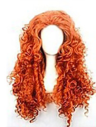 Women Synthetic Wig Long Red Cosplay Wigs Halloween Wig Carnival Wig Costume Wig