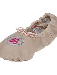 Non Customizable Women's Dance Shoes Ballet Leatherette Flat Heel