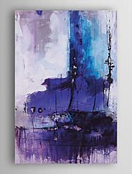pintados à mão pintura a óleo cor roxa com moldura abstracta esticado arts® 7 parede