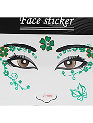 Abstract Pat Nightclubs Party Red Face Sticker LT-015