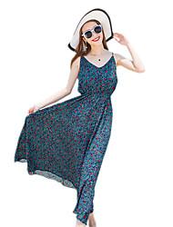 2016 Summer New Women's Bohemian Floral Printed Beach Sling Dress