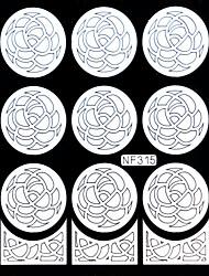 Nail Art Template Sticker-(NF315-White)