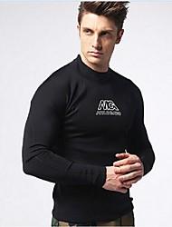 MYLEDI Men's 3mm Wetsuits Wetsuit Top Thermal / Warm Wearable YKK Zipper Neoprene Diving Suit Long Sleeves Diving Suits Tops-Swimming