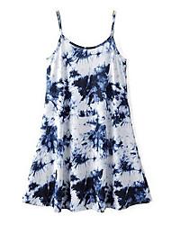 Women's Vintage / Boho Print Plus Size / Loose Dress,V Neck Above Knee Acrylic / Polyester