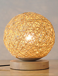Modern Create Handmade Rattan with Metal Material Table Lamp for Indoor Home Decorate Dest Lamp