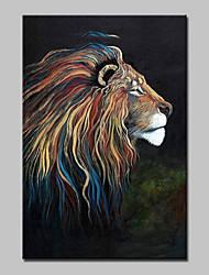 Large Hand Painted Modern Abstract Lion Animal Oil Painting On Canvas Wall Art Picture With Frame Ready To Hang 90x140cm