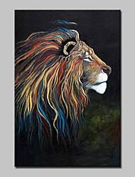 большой ручной росписью современная картина маслом абстрактный лев животное на холст стены искусства картины с рамкой готовы повесить