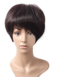 Short Wig High Quality Synthetic Black Straight Hair Wig With Full Bang
