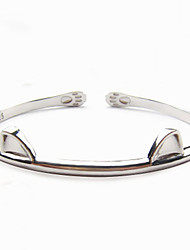 Fashion Womens 925 Sterling Silver Bracelets Cat Bracelet Bangles Gift Idea