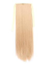flaxen comprimento 60 centímetros tipo de ligação sintética reta longa peruca de cabelo de rabo de cavalo (cor 26)