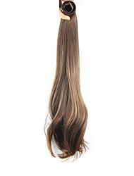 длина коричневый парик 52см синтетический прямой высокой температуры проволоки шрапнель прямые волосы конский хвост цвет 2009