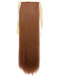 Wig Brown 60CM High-Temperature Wire Strap Style Pony Tail Straight Hair Wig Colour 27A