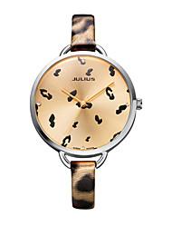 Mulheres Relógio de Moda Quartz Couro Banda Prata / Cores Múltiplas marca