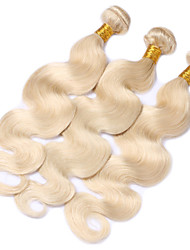 3pcs Peruvian Virgin Hair Blonde Body Wave Human Hair Weft 613 Blonde Hair Extension