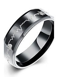 Titanium series of European and American Men's Steel Ring Hot Multi-Color Combination TGR019