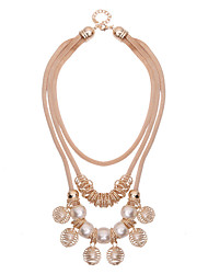 LGSPWomen's Alloy Necklace  Daily Imitation Pearl61161044